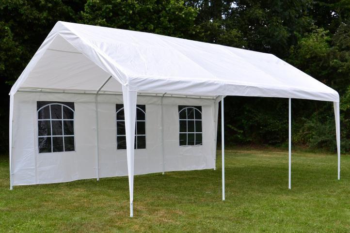 Záhradný stan - biely, 4 x 6 m