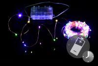 LED osvetlenie – medený drôt - 100 LED farebné