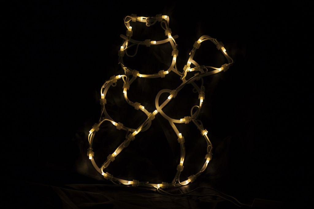 Vianočná LED dekorácia – snehuliak – 30 cm