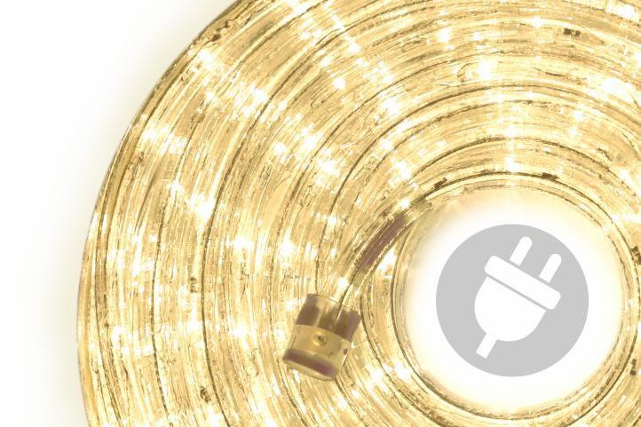 LED svetelný kábel 40 m - teplá biela, 960 LED diód