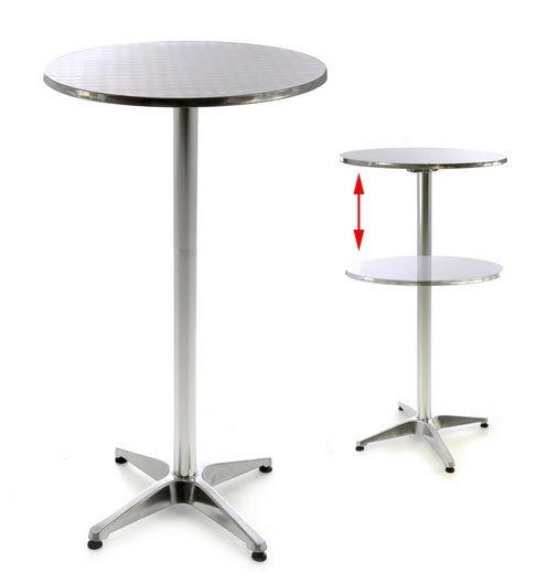 Barový stôl 110 cm okrúhly - strieborný