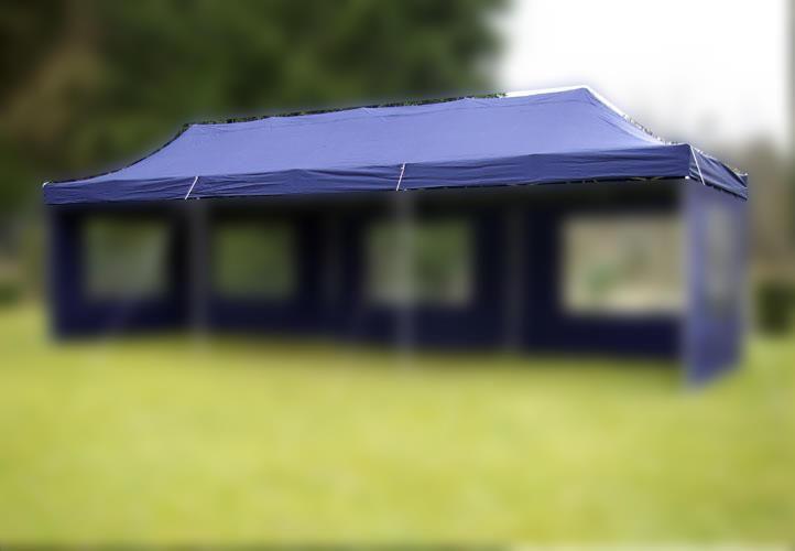 Náhradná strecha na záhradný skladací stan 3 x 9 m modrá