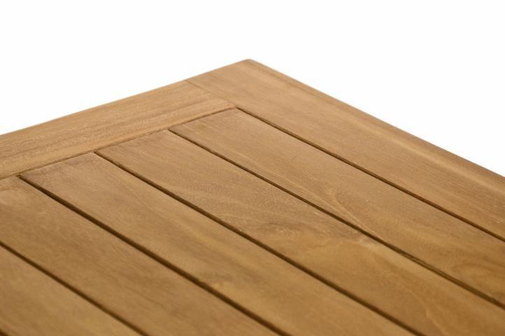 Odkladací teakový stolík DIVERO - 50 cm
