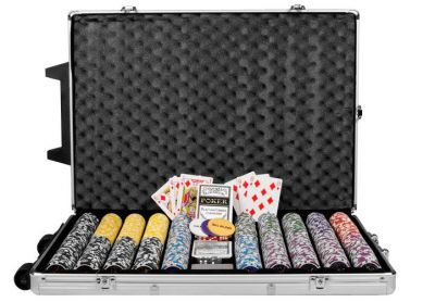 Poker set 1000 ks žetónov OCEAN Trolley