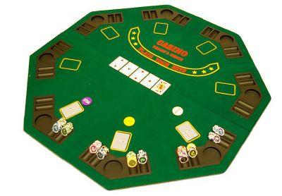 Poker podložka skladacia - osemhran