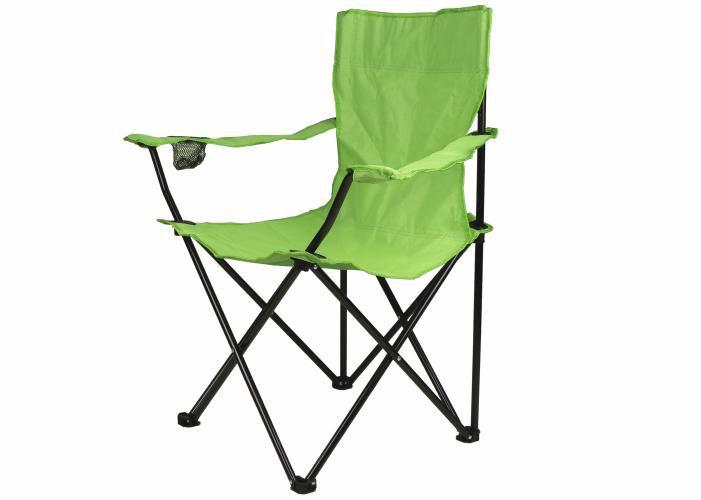 Skladacia stolička s držiakom - svetlo zelená