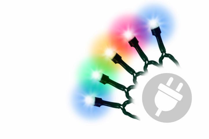 Vianočná svetelná reťaz - 100 MAXI žiaroviek - farebné - 20m