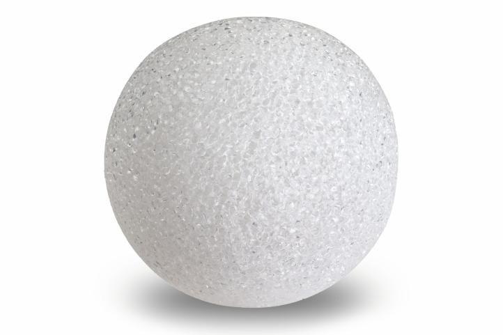 Svetelná dekorácia - LED svietiaca guľa - 15 cm teplá biela