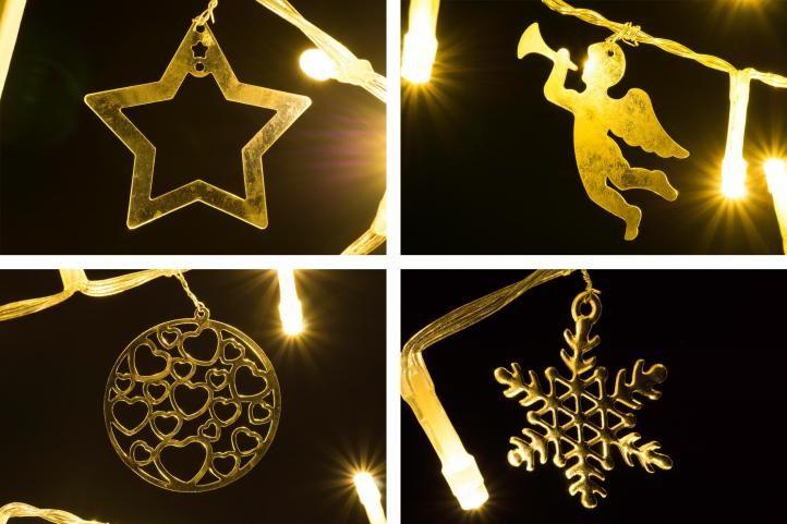 Svetelná dekorácia biela - Vianoce - 20 LED teplá biela