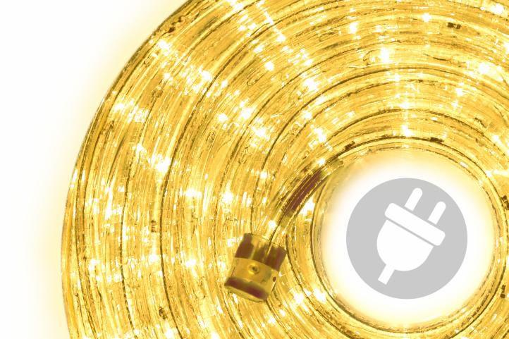 LED svetelný kábel 20 m - žltá, 480 diód