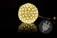 LED svetelná guľa - teple biela - 12cm