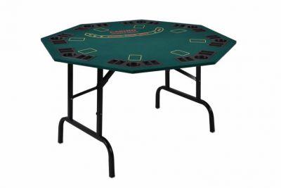 Skladací pokerový stôl pre 8 osôb s držiakmi na nápoje
