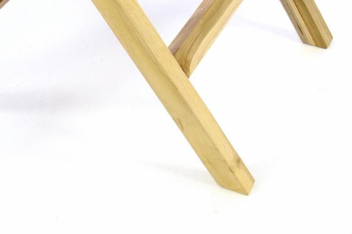Záhradný stôl sklopný DIVERO z teakového dreva - Ø 80 cm