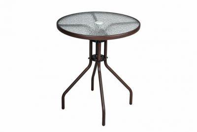Záhradný stôl so sklenenou doskou Bistro