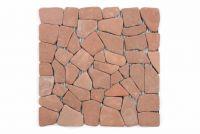 Mramorová mozaika Garth- červená / terakota - obklady 1 m2