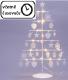 Vianočný kovový dekoračný strom - biely, 25 LED, teple biela
