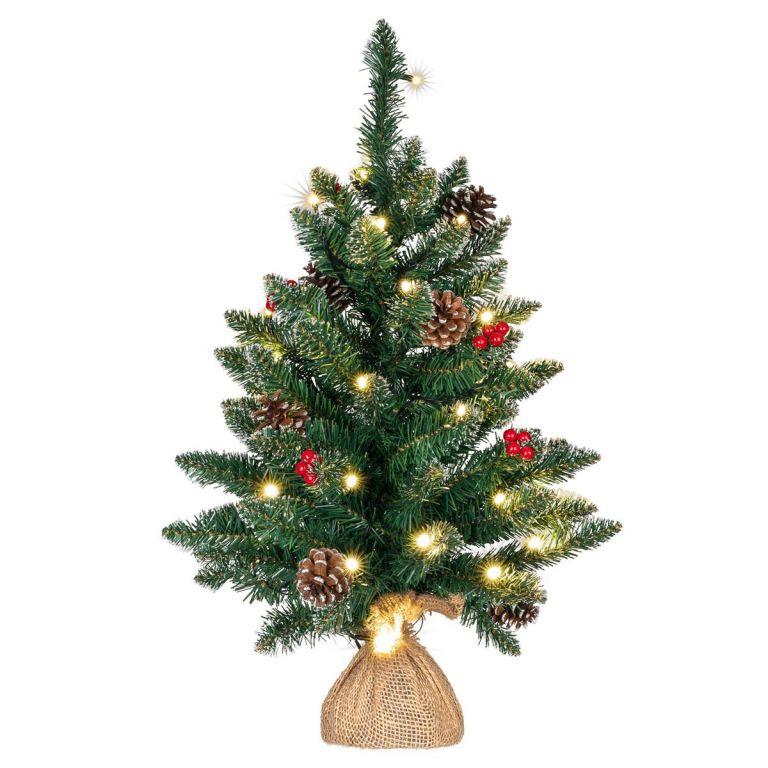 Vianočný stromček s osvetlením - 60 cm, 30 LED