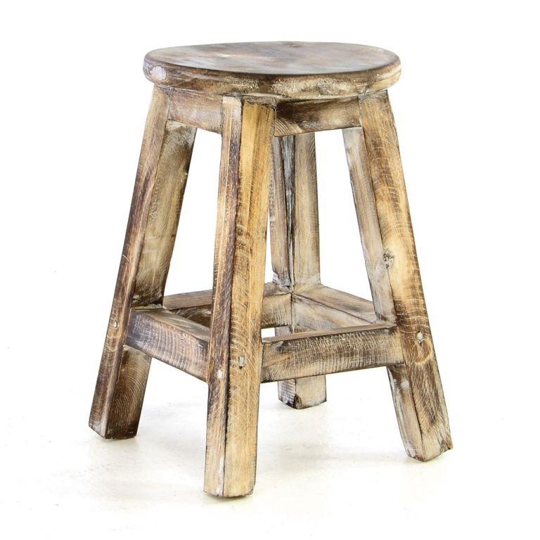 DIVERO Vintage stolička, 40 cm