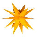 Vianočná dekorácia - hviezda s časovačom 1 LED, 55 cm, žltá