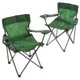 Sada 2 ks skladacích stoličiek - zelené