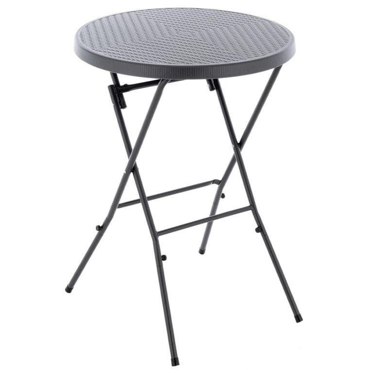 Skladací vysoký stôl - sivý