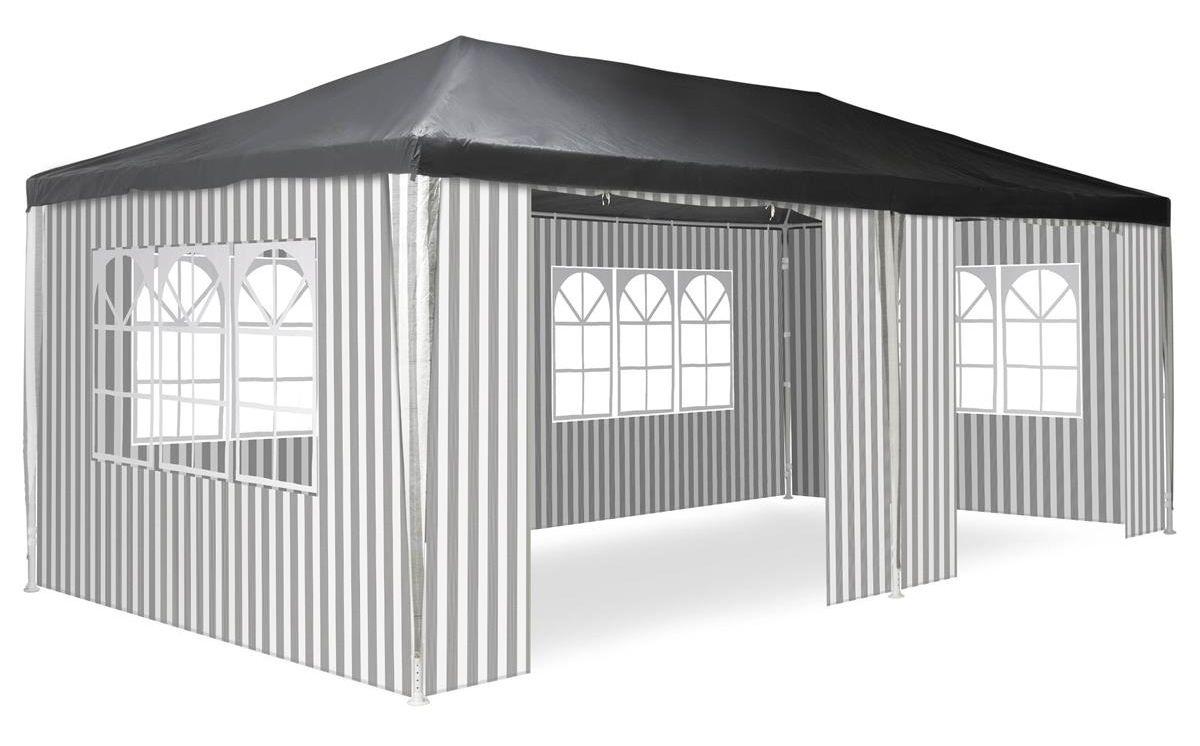 Záhradný párty stan - 3 x 6 m, antracit + 6 bočníc