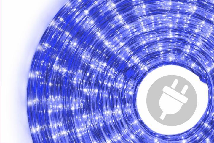 Svetelný kábel - 360 minižiaroviek, 10 m, modrý