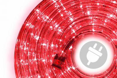 LED svetelný kábel - 480 diód, 20 m, červený