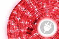 LED svetelný kábel 10 m - červená, 240 diód