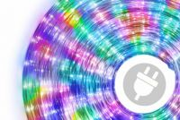 LED svetelný kábel - 240 diód, 10 m, farebný