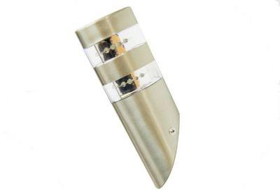 LED nerezová nástenná lampa Garth s 2 x 12 LED diódami 23,5 cm