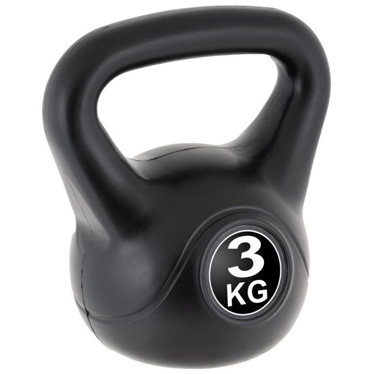 MAXXIVA Kettlebell činka, čierna, 3 kg
