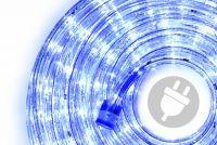 LED svetelný kábel 10 m - modrá, 240 diód