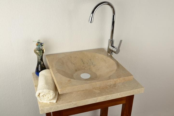 Kamenné umývadlo - leštený mramor krémové