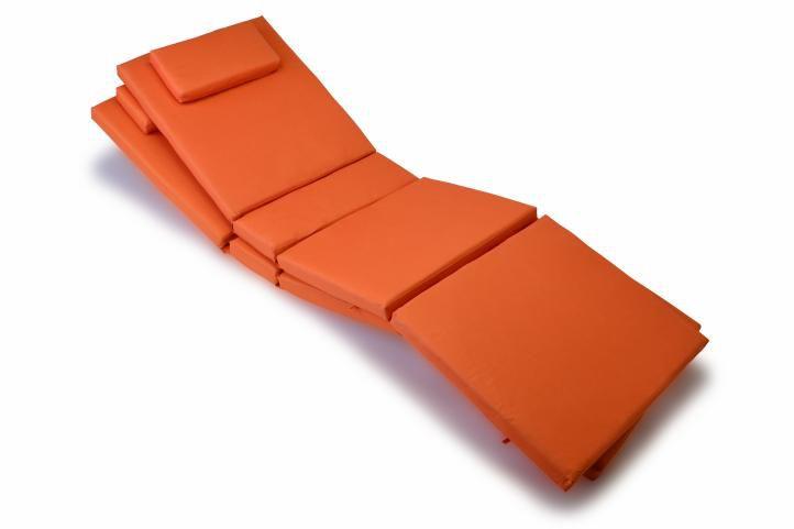 Sada 2 ks polstrovania Garth na ležadlo, oranžové