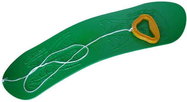 Snowboard detský plastový - zelený