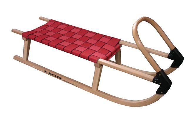 Sane 110 cm drevené - červené