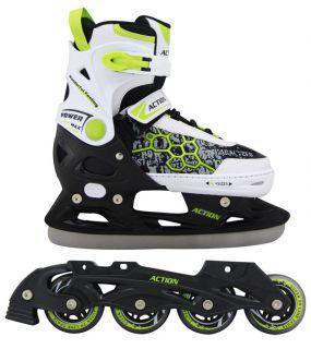Chlapčenské korčule s vymeniteľným podvozkom - veľ. 33 - 37