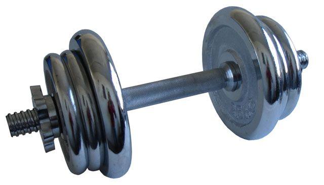 Jednoručná nakladacia činka chróm 15 kg