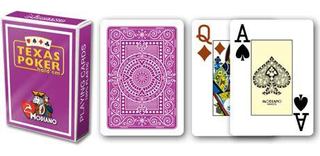 Modiano 2 rohy 100 % plastové karty - fialové