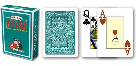Modiano 2 rohy 100 % plastové karty - zelené