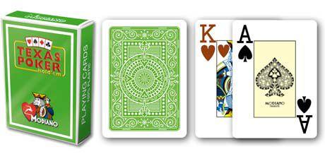 Modiano 2 rohy 100% plastové karty - Světle zelené