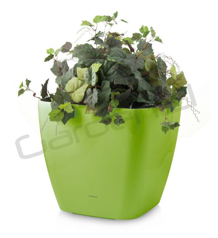 G21 24052 Samozavlažovací květináč Cube maxi zelený 45cm