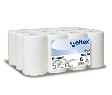 Ručníky Celtex Lux Mini role, papírové, bílé, 12ks, 72m