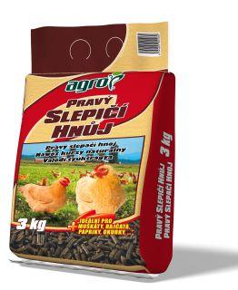 Hnojivo Agro  Pravý slepičí hnůj 3 kg