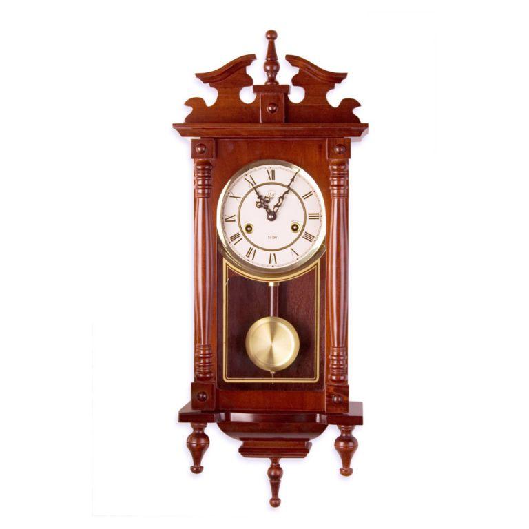 Nástenné kyvadlové hodiny Orfeus mahagón