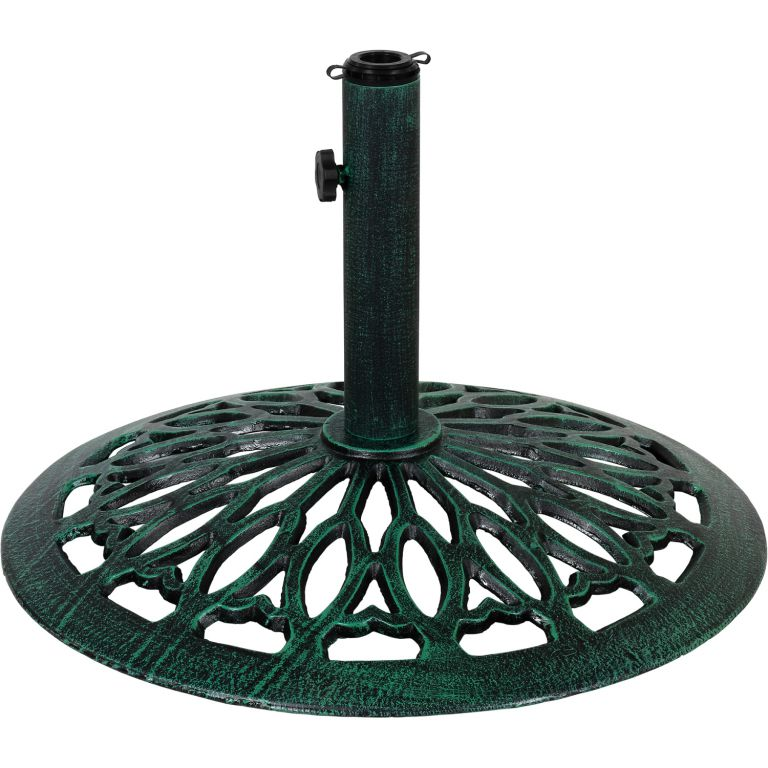 Liatinový stojan na slnečník zelený 17 kg