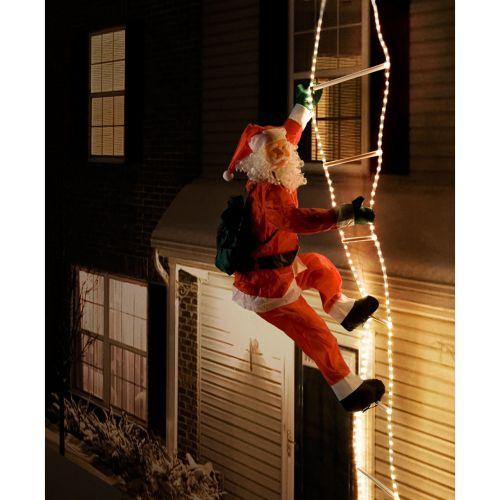 Vianočná dekorácia - Santa Claus na rebríku - 240 cm