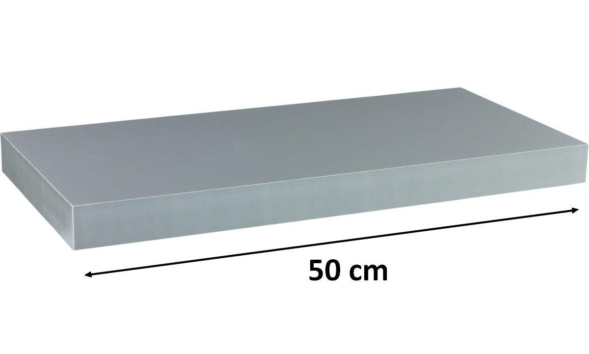 Nástěnná police STILISTA VOLATO - stříbrná 50 cm