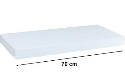 Nástenná polica STILISTA VOLATO - lesklá biela 70 cm